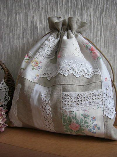 drawstring bag **In another language but pretty pics | キルティングバッグ